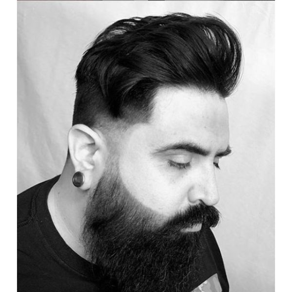 Mid Fade Undercut with Chunky Top Hairstyles For Men