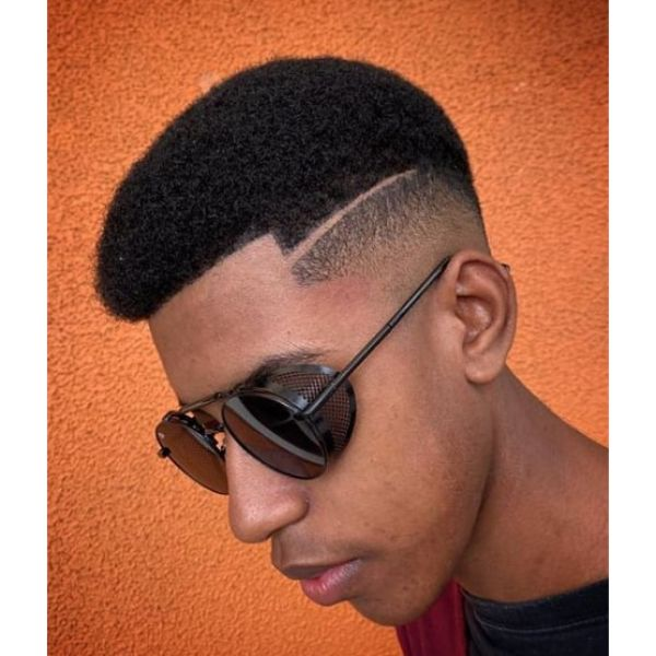 Mid Fade Undercut with Curly Top Short Haircuts