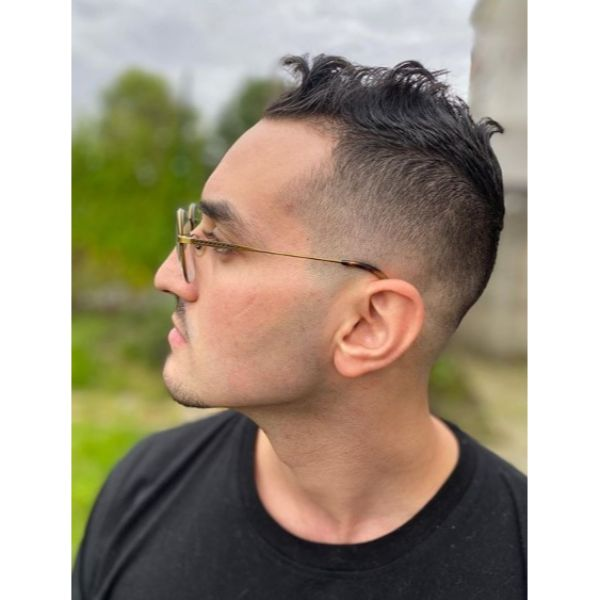 Mid Skin Fade with Faux Hawk