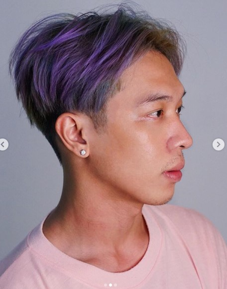 Multicolored Undercut Hairstyles For Men