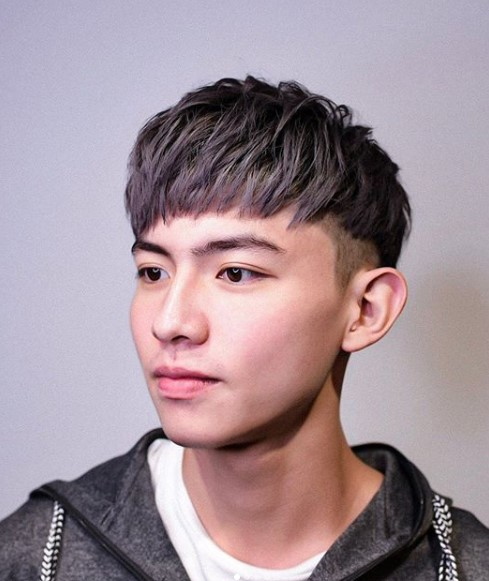 Piecey Purple Colored Crop Undercut Hairstyle for Men