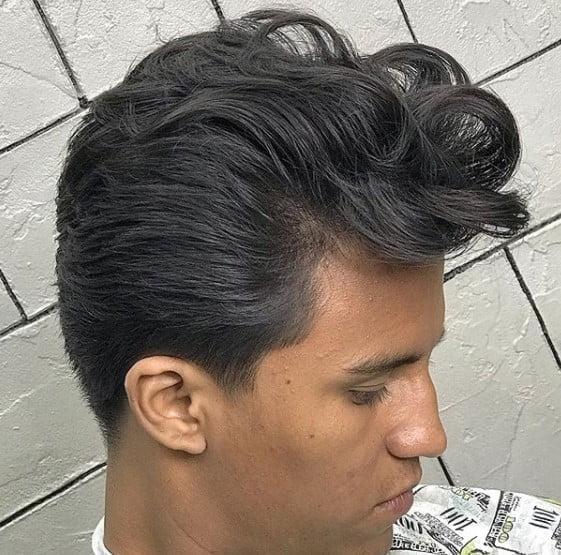 Pompadour medium length hairstyles for men