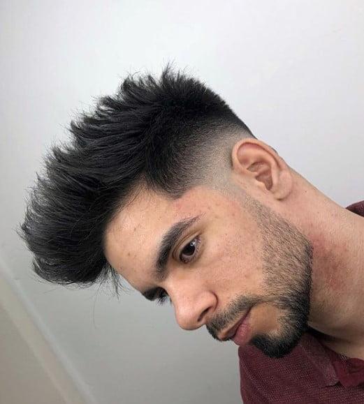 Pompadour Style medium length hairstyles for men
