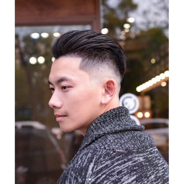 Pompadour Undercut with Slicked Back