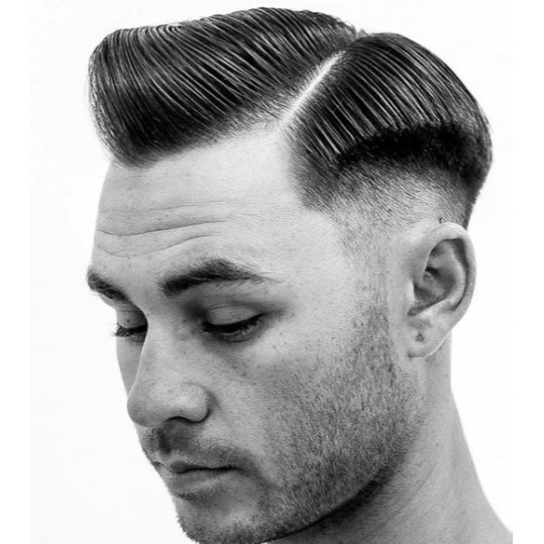 Pork Chop Executive Undercut Hairstyles For Men
