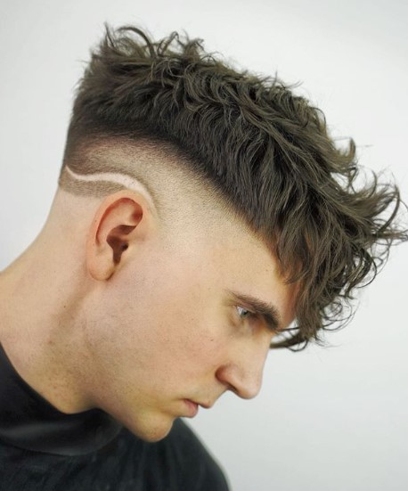 Razor Design with Undercut Hairstyles For Men