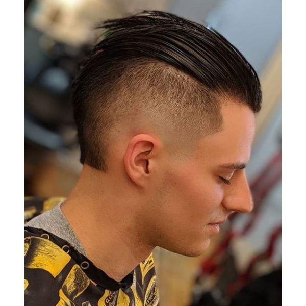 Razor Fade with Slick Back Short Haircuts