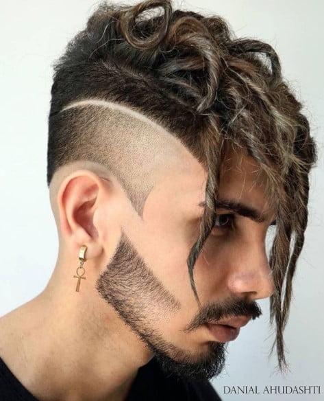 Razor Sharp Fade with medium length hairstyles for men