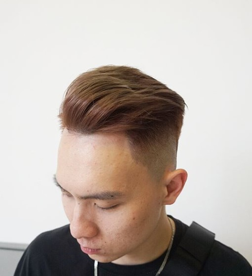 Rose Gold Undercut with Blonde Tips Hairstyles For Men