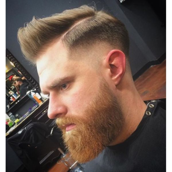 Shaped Undercut with Side Part and Quiff