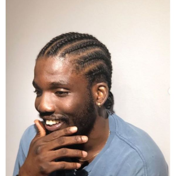 Short Cornrows Hairstyles For Black Men