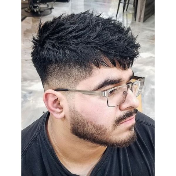 Short Undercut with Long Messy Top