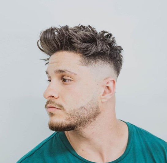 Short on The Sides Long Top With medium length hairstyles for men