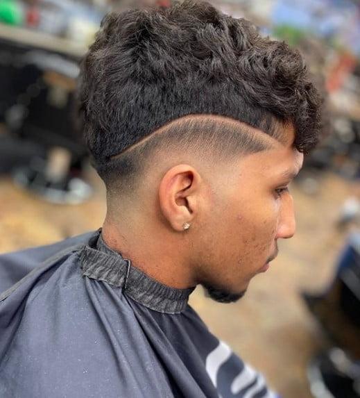 Side Razor Design For medium length hairstyles for men