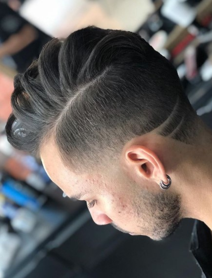 Side Swept Chunky Top medium length hairstyles for men