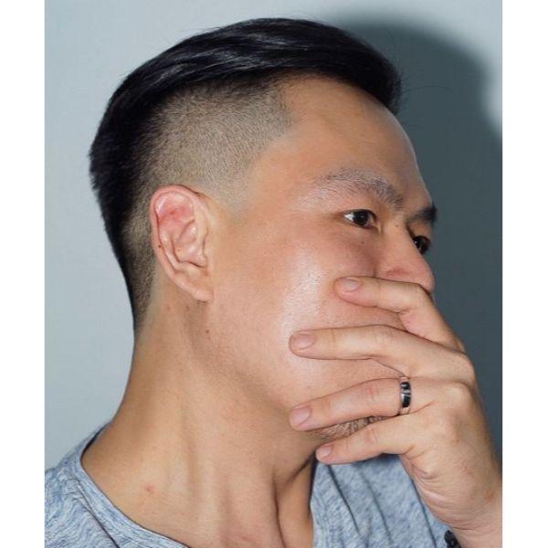 Simple Slickback Undercut Hairstyles For Men