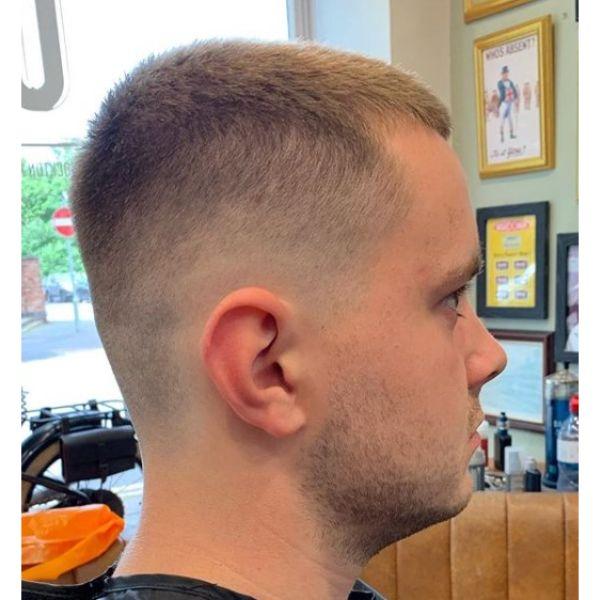 Skin Fade For Blonde Buzz Cut