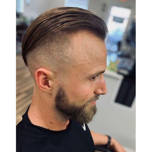 Slickback Hairstyle with Zero Faded Undercut