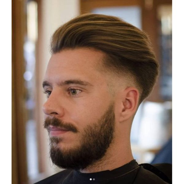 Smooth Undercut with Long Soft Top Hairstyles For Men