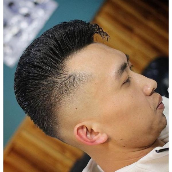 Spiky Short Haircut with Elephant's Trunk