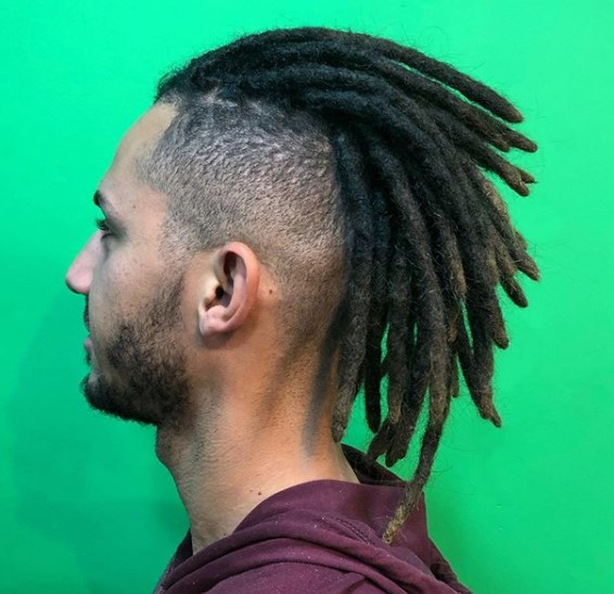 Spiky Swept-Back Dreadlocks Hairstyle