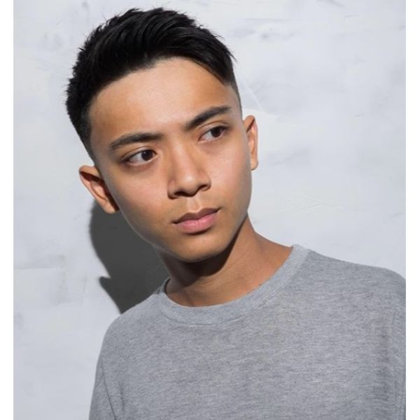 Subtle Undercut with Side-swept Top Short Haircuts