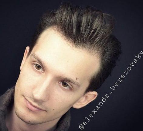 Swept Back Flow Medium Hairstyles For Men