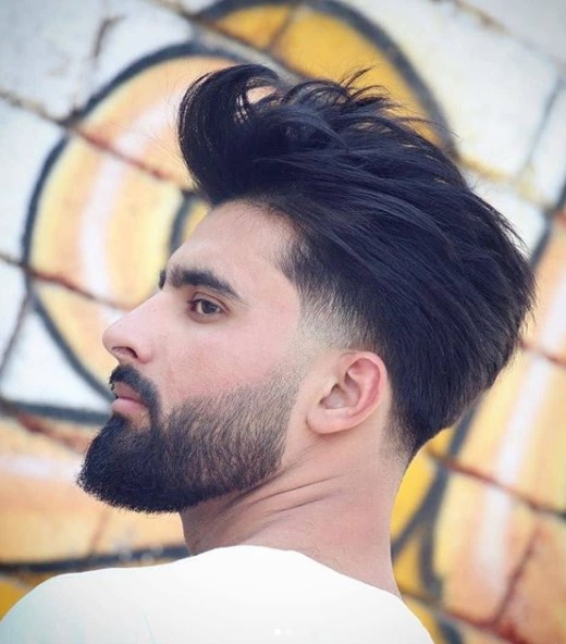 Swept Up Spiky Top medium length hairstyles for men