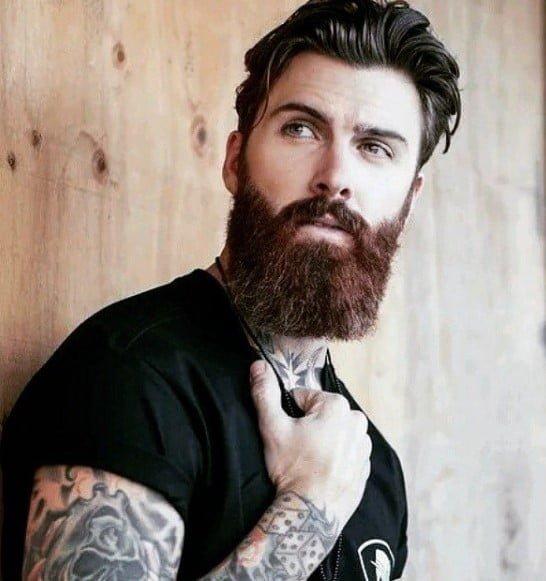 Swept-back Undercut medium length hairstyles for men
