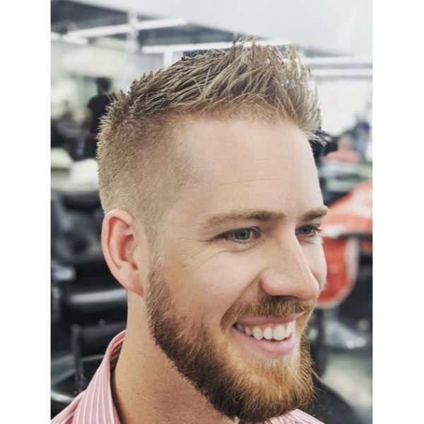 Taper Fade with Spiky Top Short Haircuts For Men