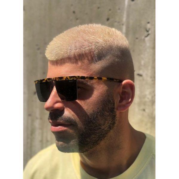 Texturized Platinum Crop Short Haircut