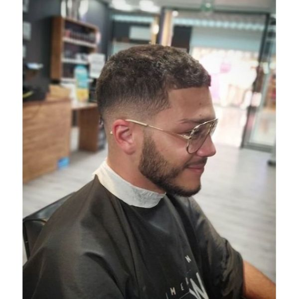 Texured Low Fade Buzz Cut