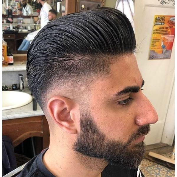 Traditional Pomp Top for Undercut Hairstyles For Men
