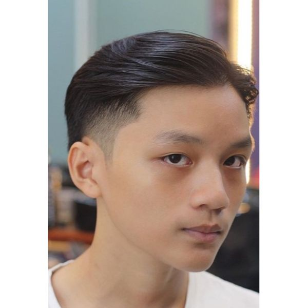 Undercut with Long Swoopy Top Hairstyle for Men