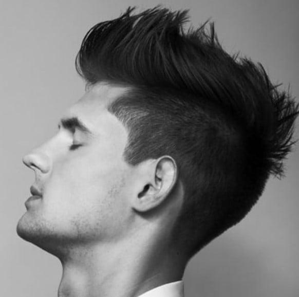Up-swept medium length hairstyles for men