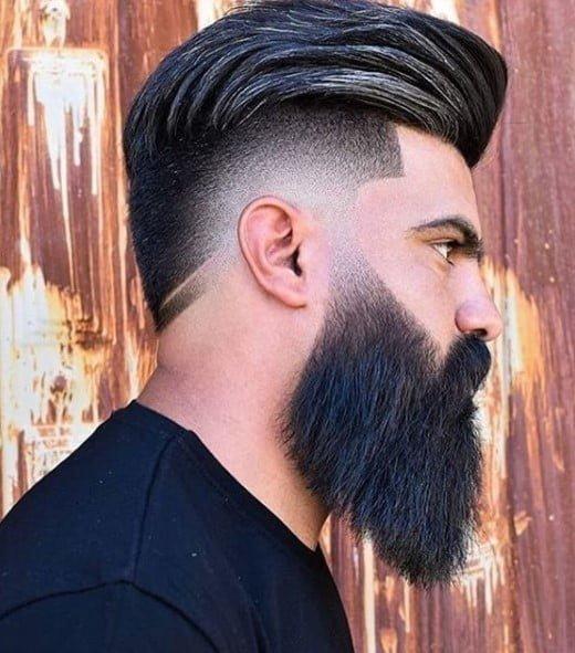 Voluminous Undercut with Razor Sharp Fade medium length hairstyles for men