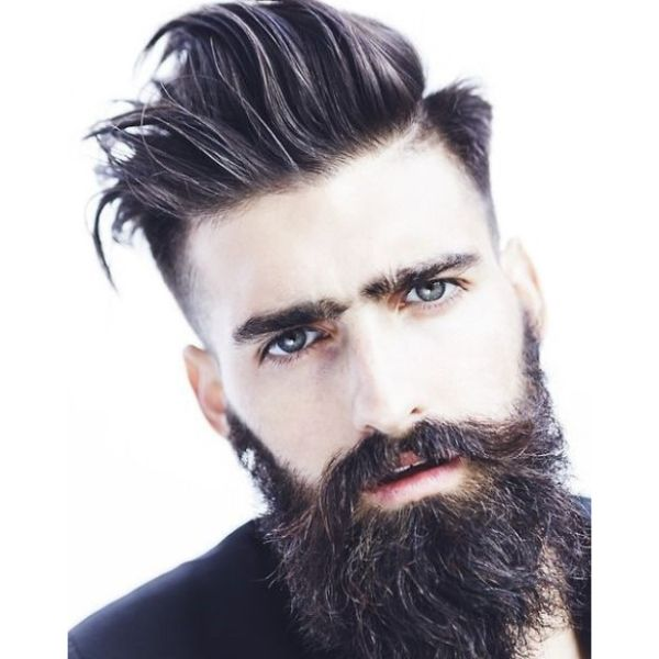 Wispy Long Top With Skin Fade Undercut Hairstyles For Men