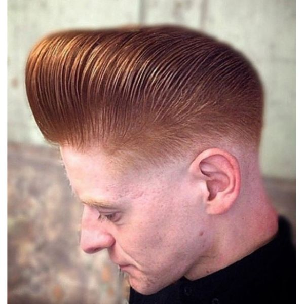 Bald Fade Pomp For Ginger Hair