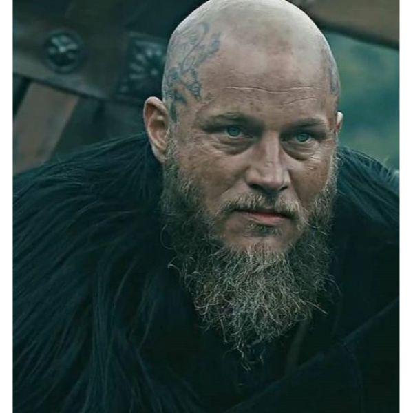 Bald Fade with Tattoo and Viking Beard