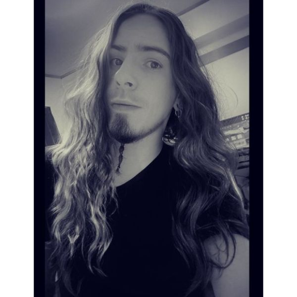 Black Metal Long Hairstyle