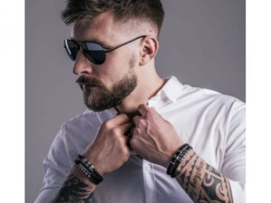 Blurry Fade with Long Spiky Top Hairstyles For Men With Thick Hair
