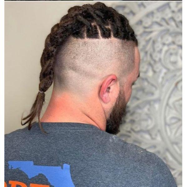 Braided Dreadlocks with Bald Fade