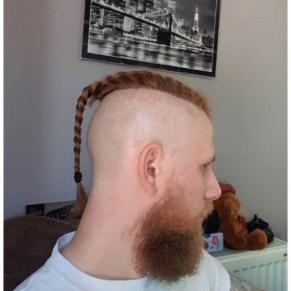 Braided Mohawk with Beard