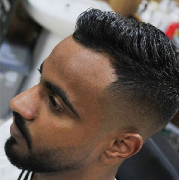 Classic Short Skin Fade with Textured Top Hairstyle For Men With Thick Hair