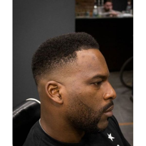 Curly Top with Mid Fade Low Maintenance Haircuts For Men