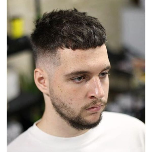 French Crop with Bald Fade