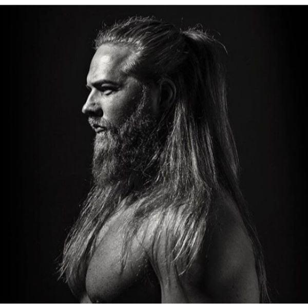 Half Man Bun Viking Style