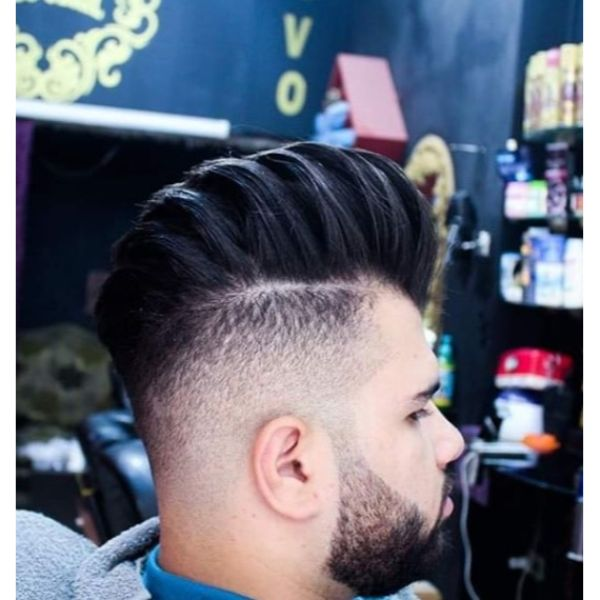 High Voluminous Faux Hawk Hairstyles For Men With Thick Hair