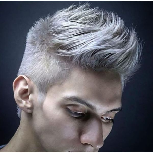 Ice Cold Razor Sharp Fade With Blonde Strands