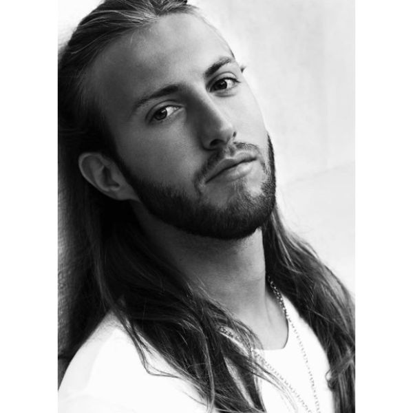 Long Simple Viking Hairstyle